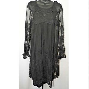 NEW Zimmerman Black Lace Floral Embroidered Dress